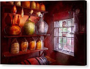 Bar - Bottles - Check Out These Big Jugs  Canvas Print by Mike Savad
