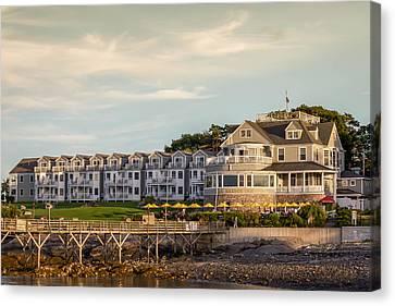 Canvas Print featuring the photograph Bar Harbor Inn  by Trace Kittrell