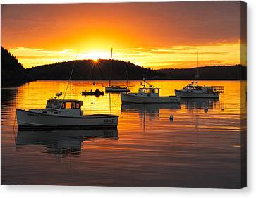 Canvas Print featuring the photograph Bar Harbor Sunrise by Bernard Chen