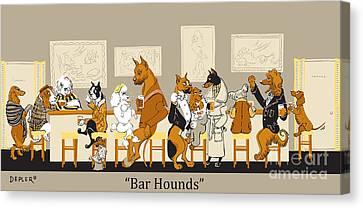 Bar Hounds Canvas Print