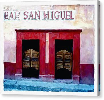 Bar San Miguel Canvas Print by Britton Britt Cagle