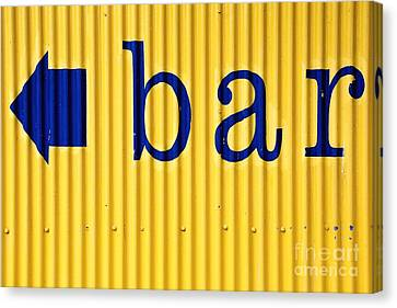 Bar Sign Canvas Print by Sophie Vigneault
