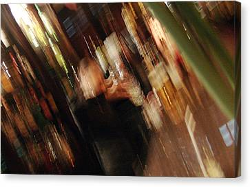 bar with Lucy Canvas Print