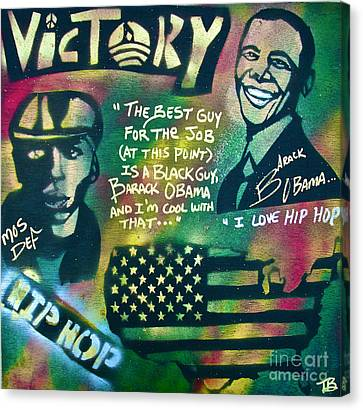 Barack And Mos Def Canvas Print by Tony B Conscious