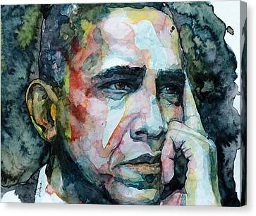 Canvas Print featuring the painting Barack by Laur Iduc
