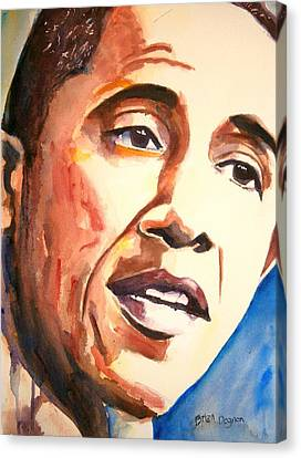 Barack Obama Canvas Print by Brian Degnon