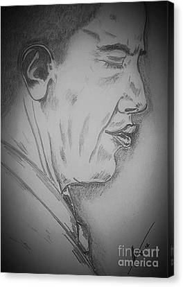 Barack Obama Canvas Print by Collin A Clarke