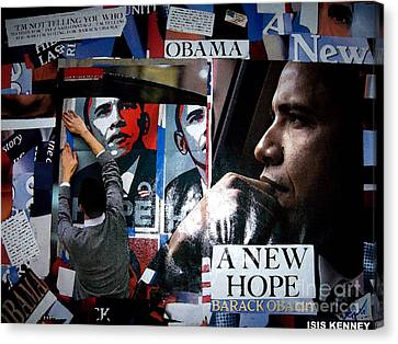 Barack Obama Canvas Print by Isis Kenney