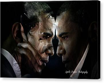 Barack Obama -  Canvas Print by Lynda Payton