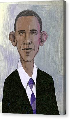 Barack Obama Canvas Print by Steve Dininno