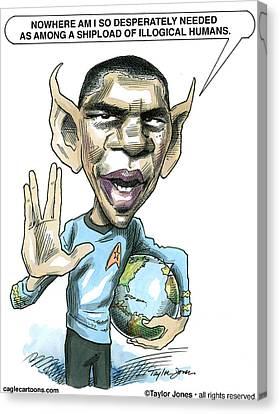 Barack Obama Canvas Print by Taylor Jones