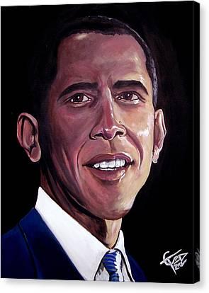Barack Obama Canvas Print by Tom Carlton