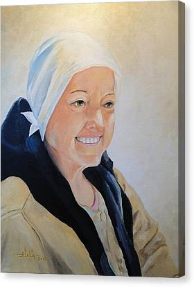 Canvas Print featuring the painting Barbara by Alan Lakin
