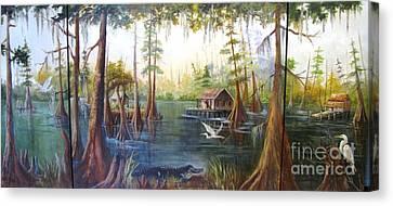 Barbaras Bayou Canvas Print by Barbara Haviland