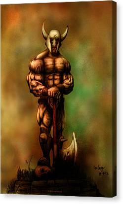Barbarian King Canvas Print by Kim Gauge