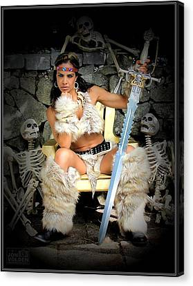 Barbarian Queen Canvas Print