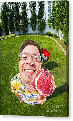Barbecue Canvas Print - Barbecue Man by Diane Diederich