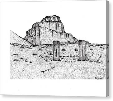Barbed Butte Canvas Print by DeeAnna Nevins