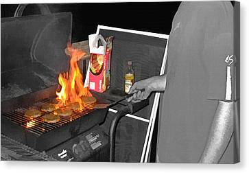 Barbeque 2 Canvas Print by Steve Ohlsen