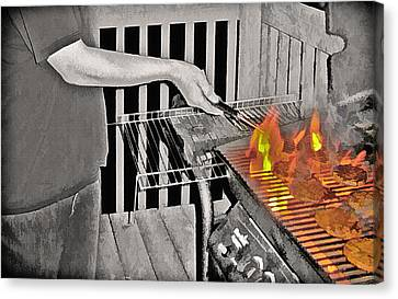 Barbeque Canvas Print by Steve Ohlsen