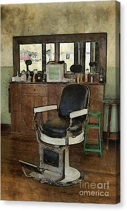 Barberchairs Canvas Print - Barber - Barber Shop by Liane Wright