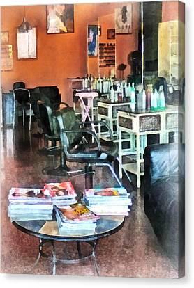 Barber - Hair Salon Canvas Print by Susan Savad