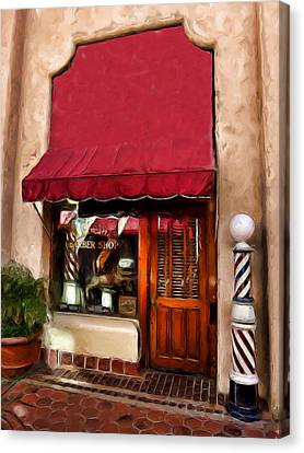 Barber Old Time Canvas Print by Cary Shapiro