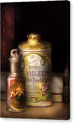 Barber -  Sharp And Dohmes Violet Toilet Powder  Canvas Print by Mike Savad