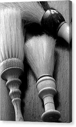 Barber Shop 13 Bw Canvas Print by Angelina Vick
