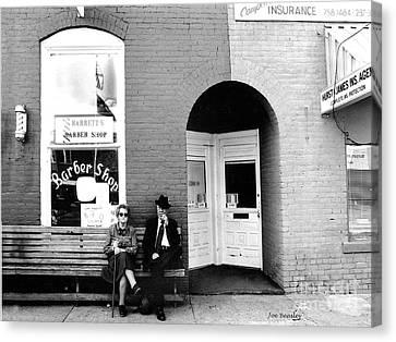 Barber Shop Watertown Tennessee Canvas Print by   Joe Beasley