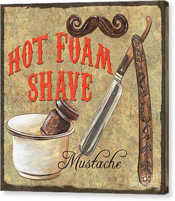 Moustache Canvas Print - Barber Shoppe 2 by Debbie DeWitt