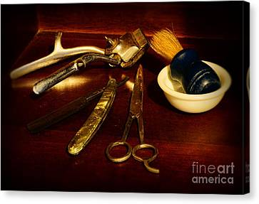 Barber - Things In A Barber Shop Canvas Print by Paul Ward