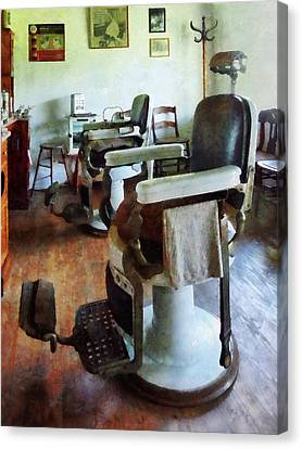 Barberchairs Canvas Print - Barber - Two Barber Chairs by Susan Savad