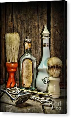 Barber - Vintage Barber Bottles Canvas Print by Paul Ward