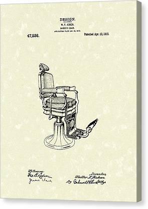 Barber's Chair 1915 Patent Art Canvas Print