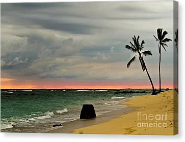 Barbers Point Sunset Canvas Print by Terry Cotton