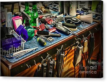 Barbershop - So Many Tools Canvas Print