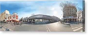 Canvas Print featuring the photograph Barbes - Rochechouart by Marc Philippe Joly