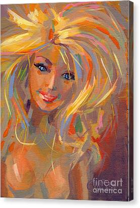 Doll Canvas Print - Barbie Licious by Kimberly Santini