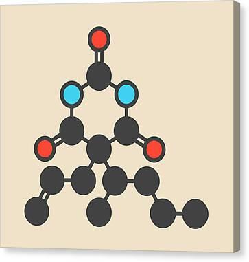 Barbiturate Sedative Molecule Canvas Print by Molekuul