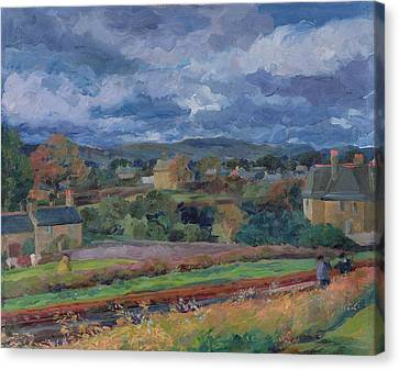 Barbon From The Railway Line Autumn Canvas Print by Stephen Harris
