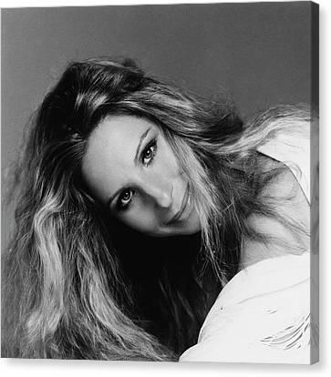 Hair Cuts Canvas Print - Barbra Streisand Wearing Hair Cut And Colored by Francesco Scavullo