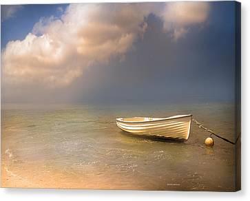 Barca De Marisqueo Canvas Print