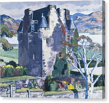 European Artists Canvas Print - Barcaldine Castle by Francis Campbell Boileau Cadell
