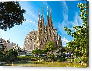 Barcelona - La Sagrada Familia Canvas Print by Luciano Mortula