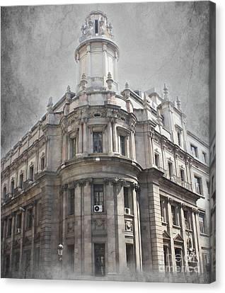 Barcelona Architecture Canvas Print by Sophie Vigneault