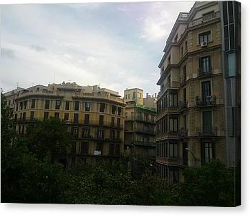 Barcelona Buidings Canvas Print by Shesh Tantry