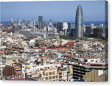 Canvas Print featuring the photograph Barcelona Cityscape by Nathan Rupert