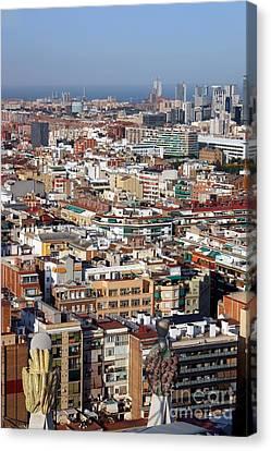 Barcelona Cityscape  Canvas Print by Sophie Vigneault