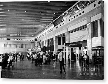 Barcelona El Prat Airport Terminal 2 Catalonia Spain Canvas Print by Joe Fox